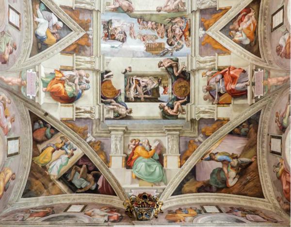 Konklave in der Sixtinischen Kapelle