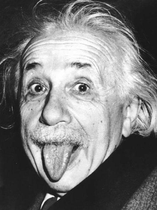 Einstein zeigt Zunge