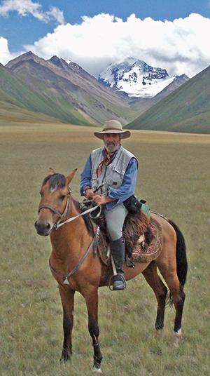 Pferd und Reiter in Edelweiss
