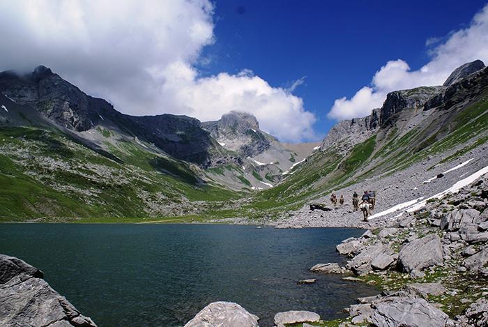 Reiten im Gebirge